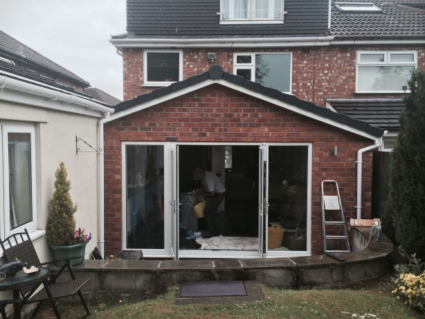 Extension exterior in Lydiate, Liverpool