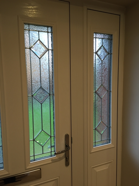Composite front door inside Liverpool