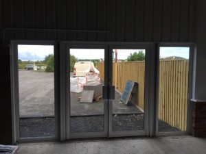 Miss Kershaw Longacres Farm entrance doors
