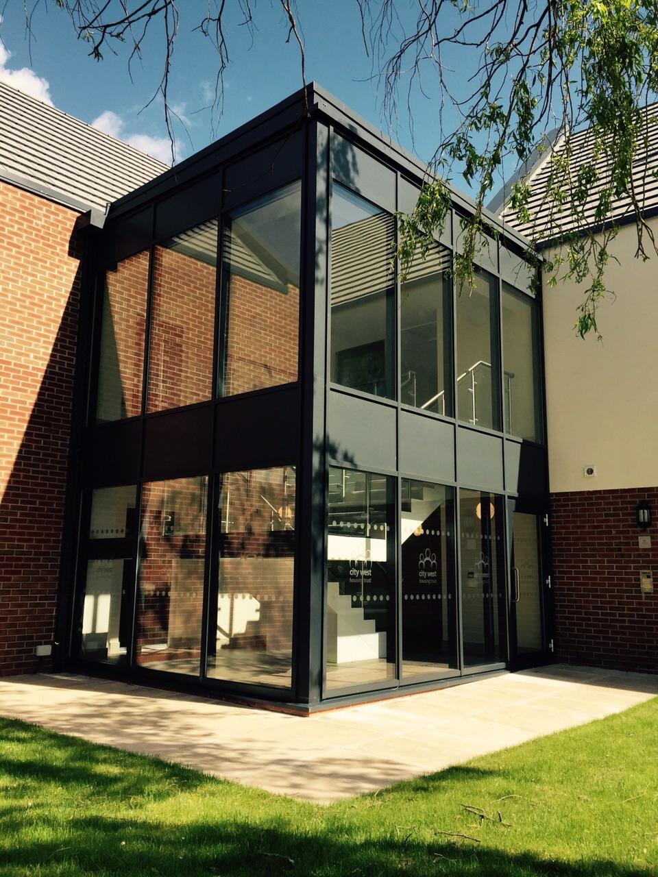 Aluminium Atrium Entrance - Salford