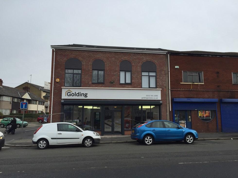 Golding Estates Shop Front Liverpool