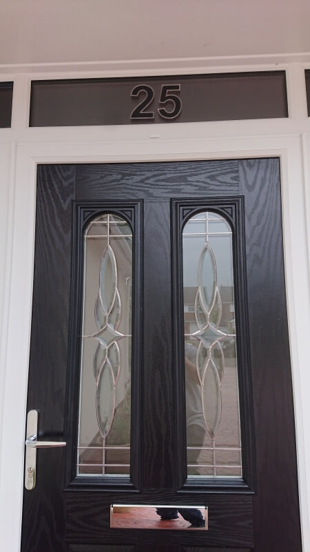 black, composite door, fanlight, number, formby, merseyside