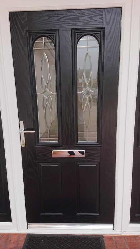 black, composite door, front, supply, installation, formby, merseyside