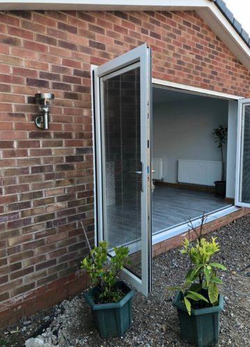 Bi fold doors, doors, bi folding doors, installation, liverpool, celsius home improvements, extension
