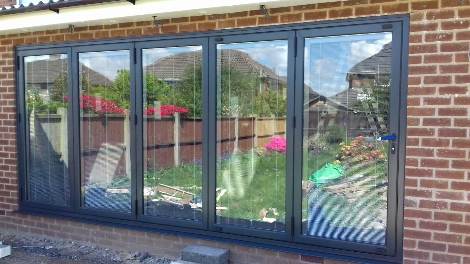 aluminium, bi folding, bi fold, doors, celsius home improvements, lydiate, merseyside