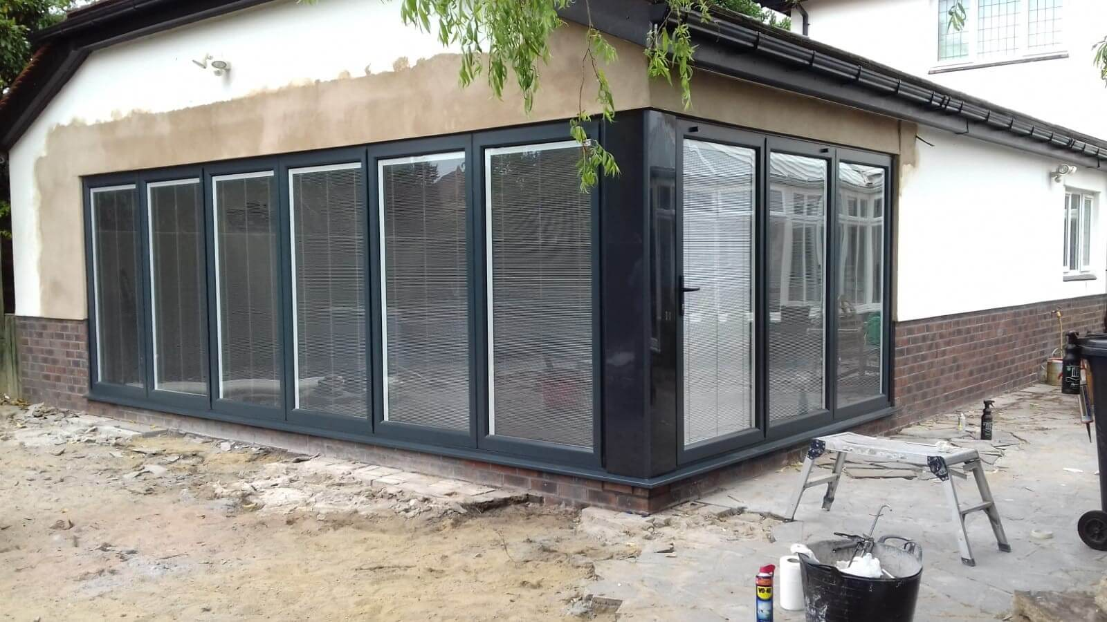 bi folding doors, bi folds, blinds, extension, birkdale, southport, celsius home improvements