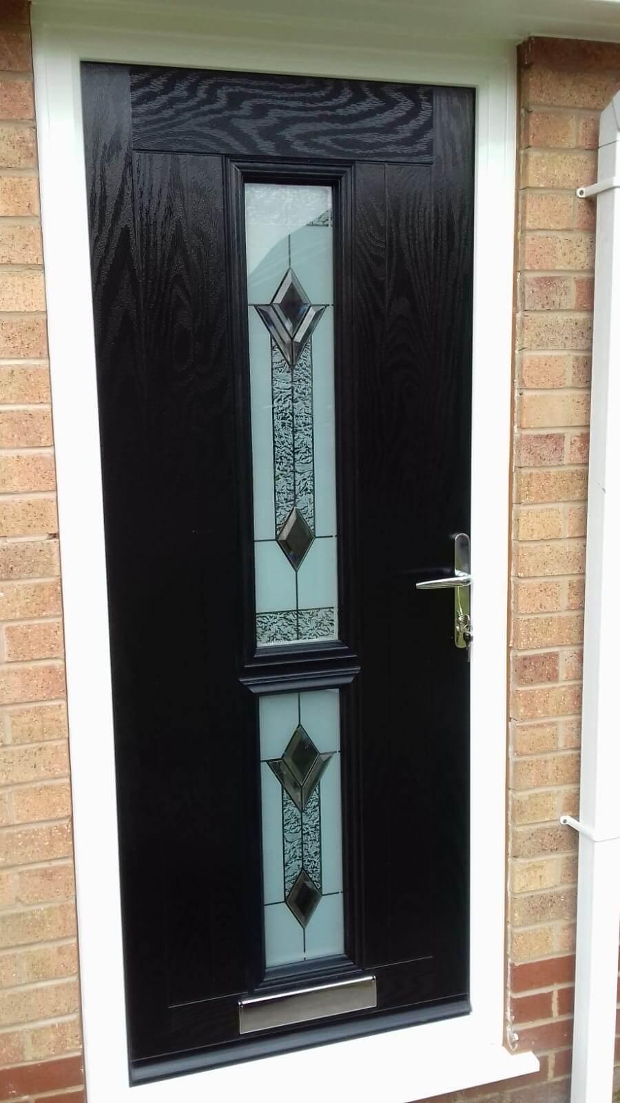 composite front door, front door, door, black, allerton, liverpool, merseyside