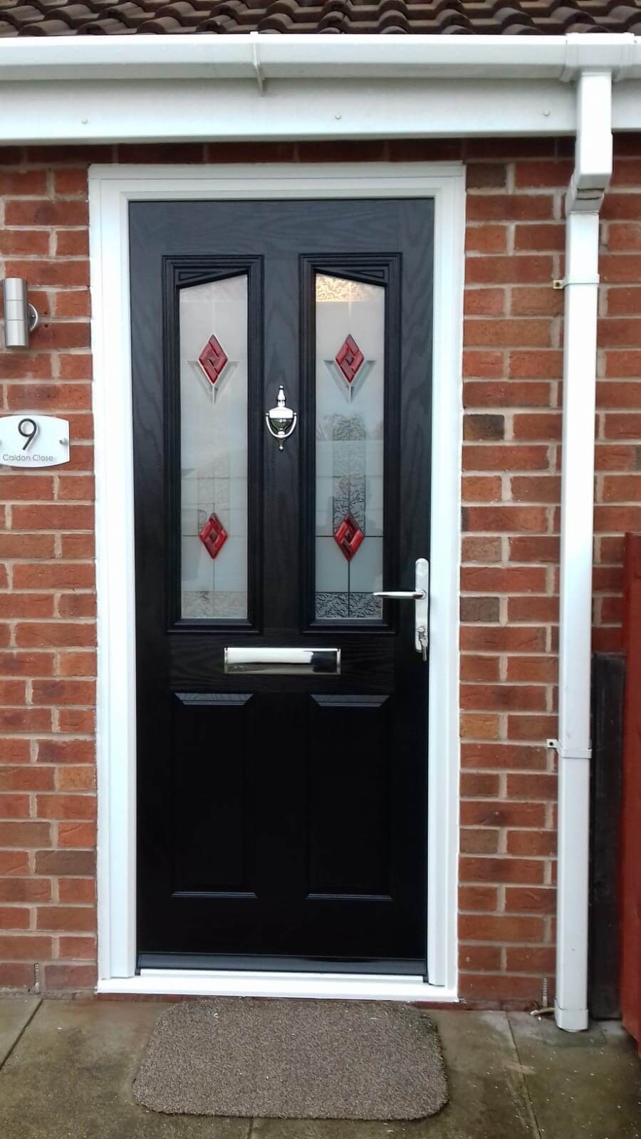 pvcu, upvc, pvc, front door, composite, black, Crosby, liverpool, celsius home improvements