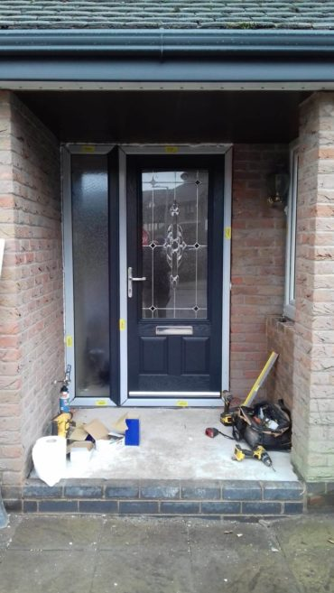 porch, renovation, composite front door, front door, hightown, liverpool, merseyside, celsius home improvements