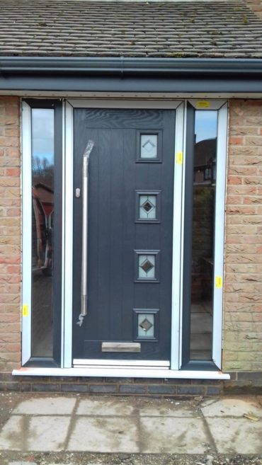 composite front door, front door, door, black, hightown, liverpool, merseyside
