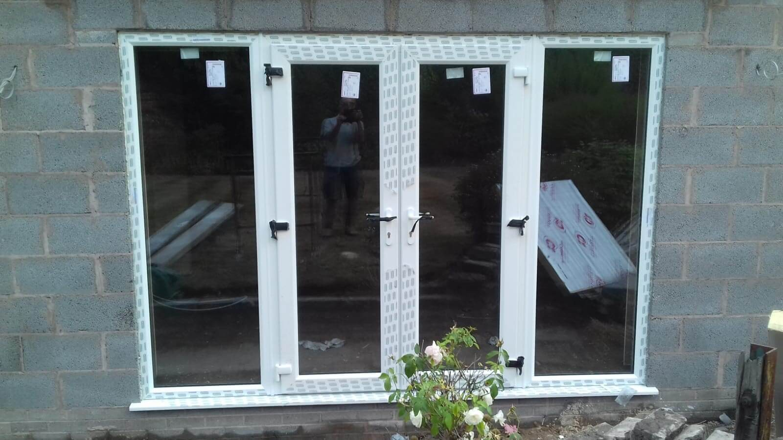 aluminium, french doors, patio doors, white, celsius home improvements, crosby, liverpool