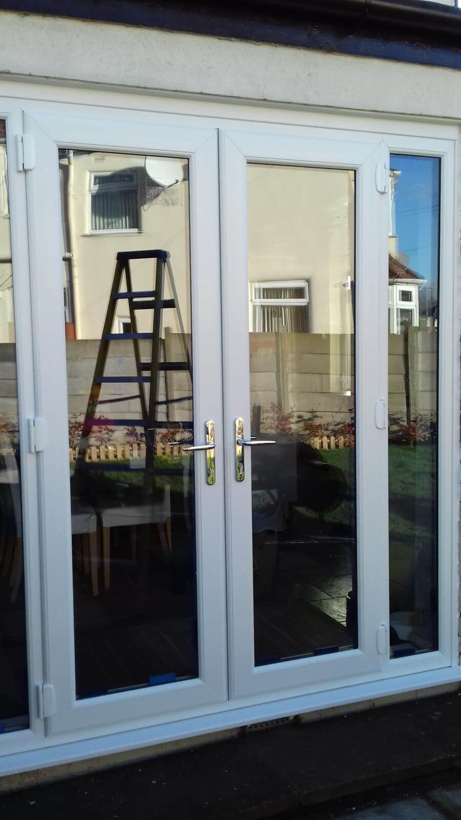 aluminium, french doors, patio doors, white, celsius home improvements, allerton, liverpool