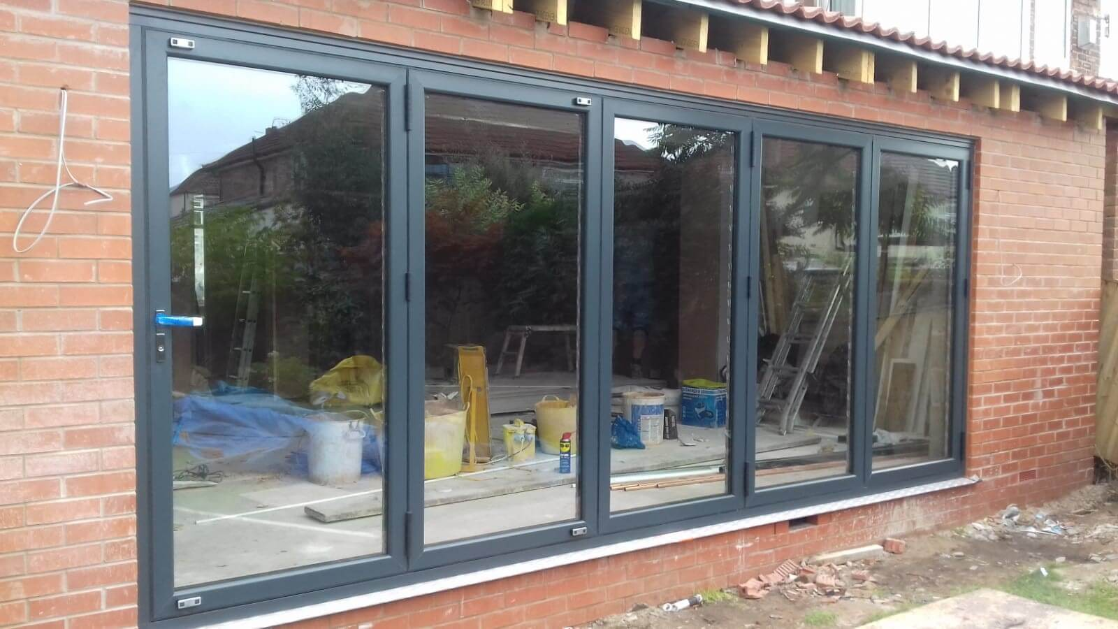 warmcore, aluminium, back door, bi-fold, bi fold, door, formby, liverpool, merseyside, celsius home improvements