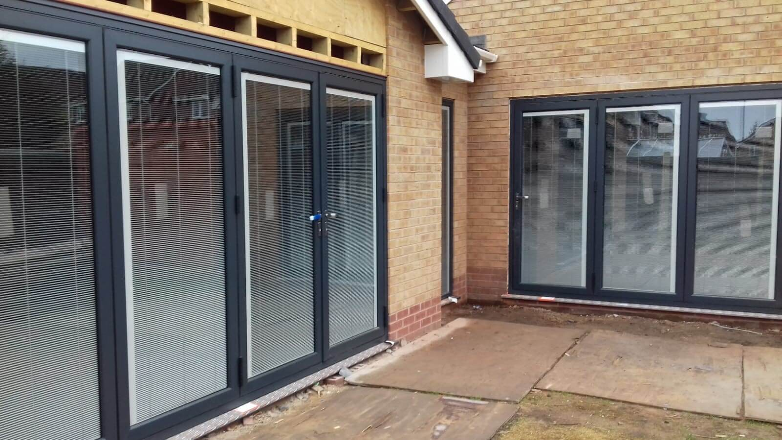 warmcore, aluminium, back door, bi-fold, bi fold, door, aughton, ormskirk, celsius home improvements