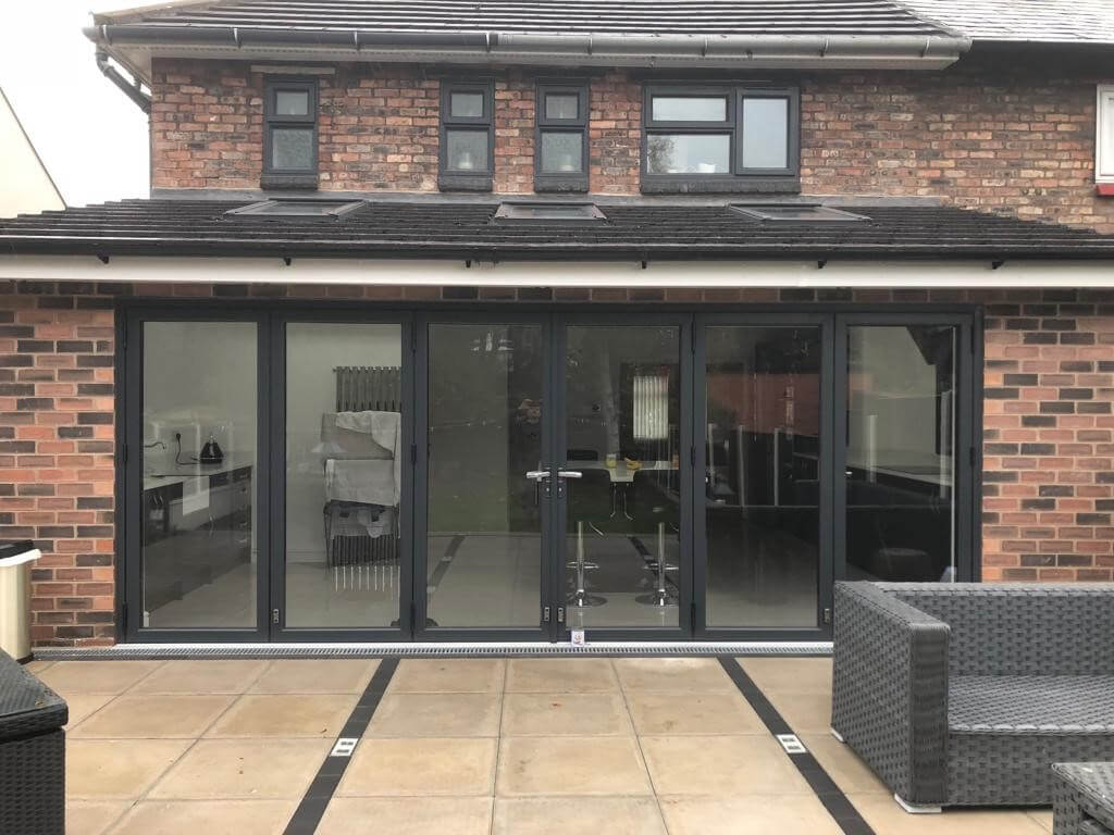 Image showing new home extension with Bi-fold doors in Liverpool, Merseyside