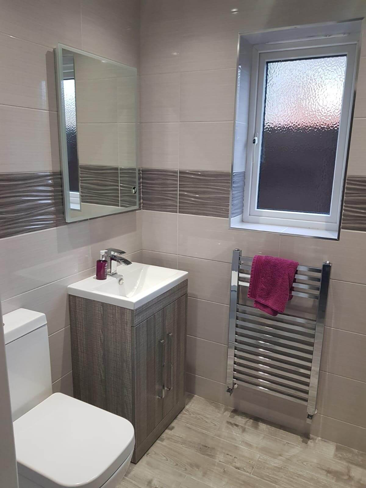 This image shows a bathroom refurbishment by Celsius Home Improvements at a home in St Helens, Merseyside