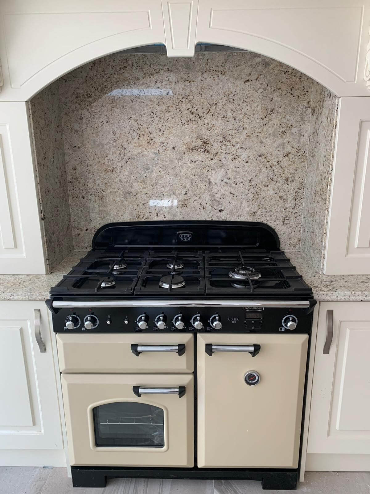This image shows a Range Master cooker fitted into a kitchen in Ormskirk, Lancashire.