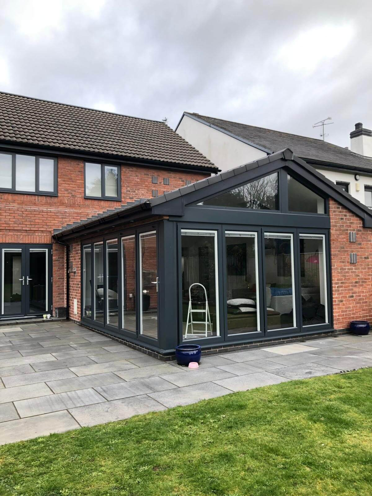 This image shows a rear extension installed by Celsius Home Improvements in Aughton, Ormskirk.
